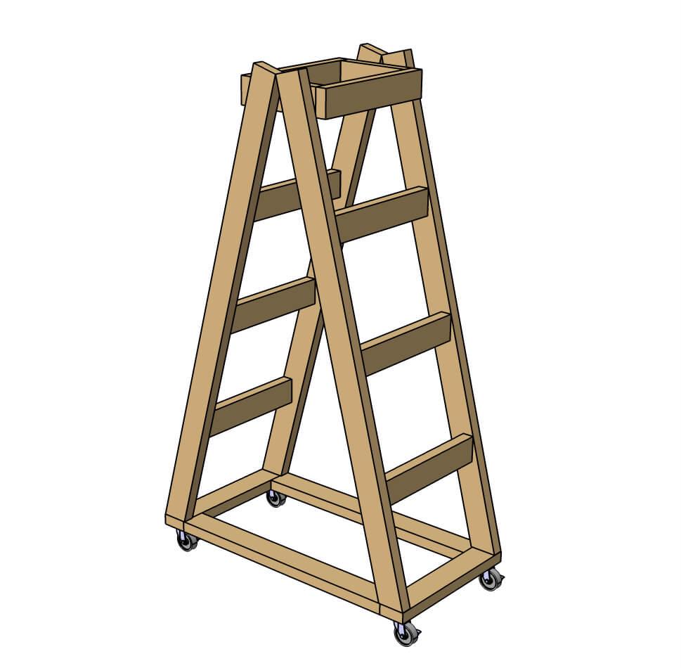 Easy Portable Lumber Rack Free Diy Plans Rogue Engineer