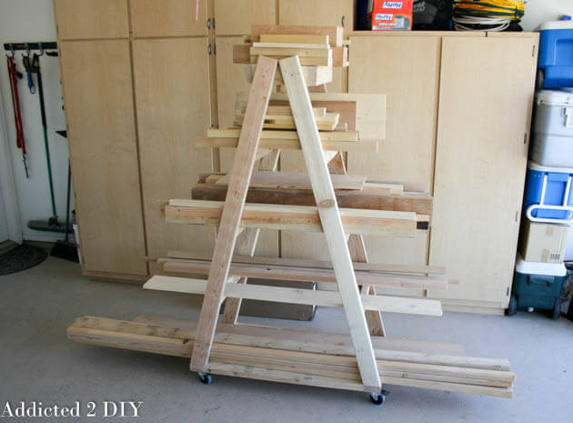 Easy Portable Lumber Rack Free Diy Plans Rogue Engineer