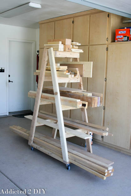 DIY Portable Lumber Rack Plans - Rogue Engineer