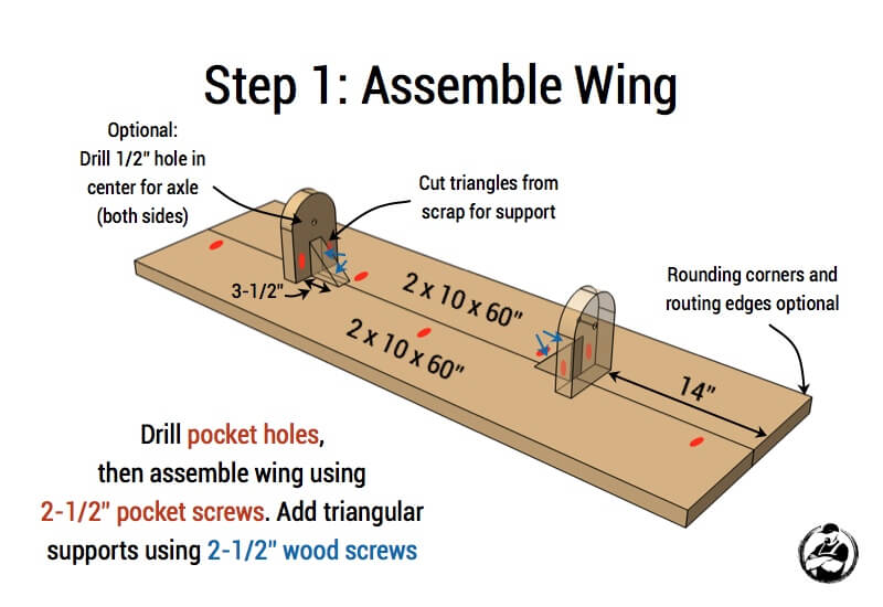 Airplane Play Structure Plans - Step 1