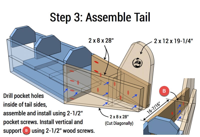 Airplane Play Structure Plans - Step 3
