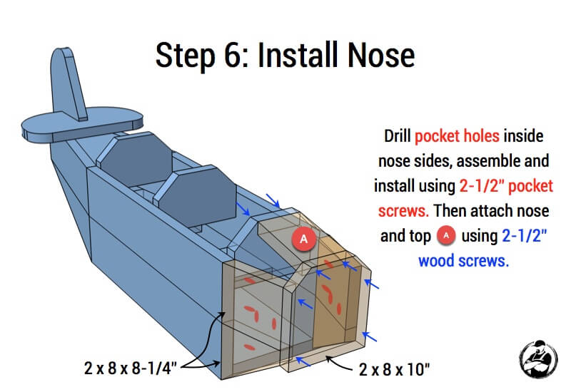 Airplane Play Structure Plans - Step 6