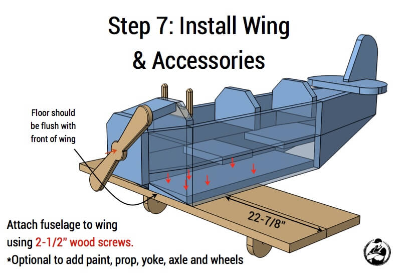 Airplane Play Structure Plans - Step 7