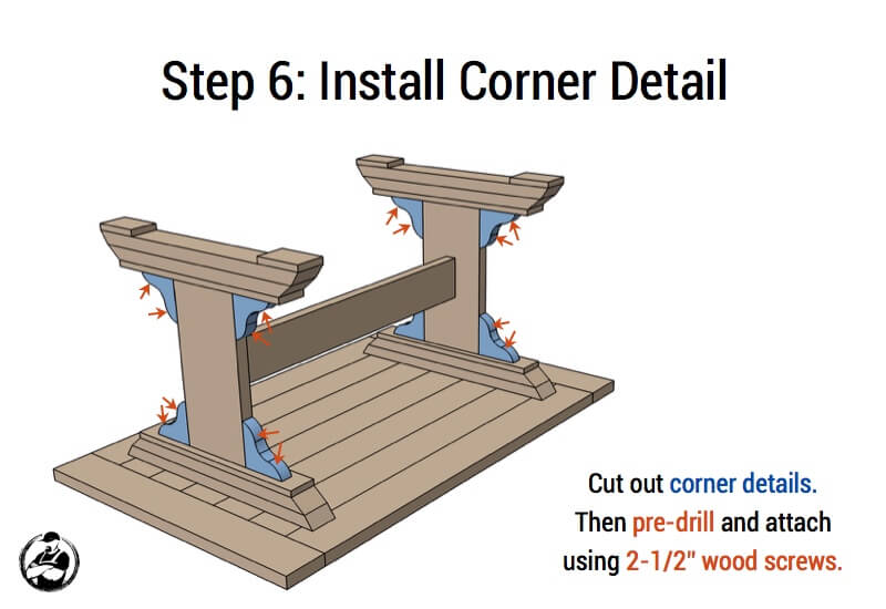 DIY Monastery Dining Table Plans - Step 6