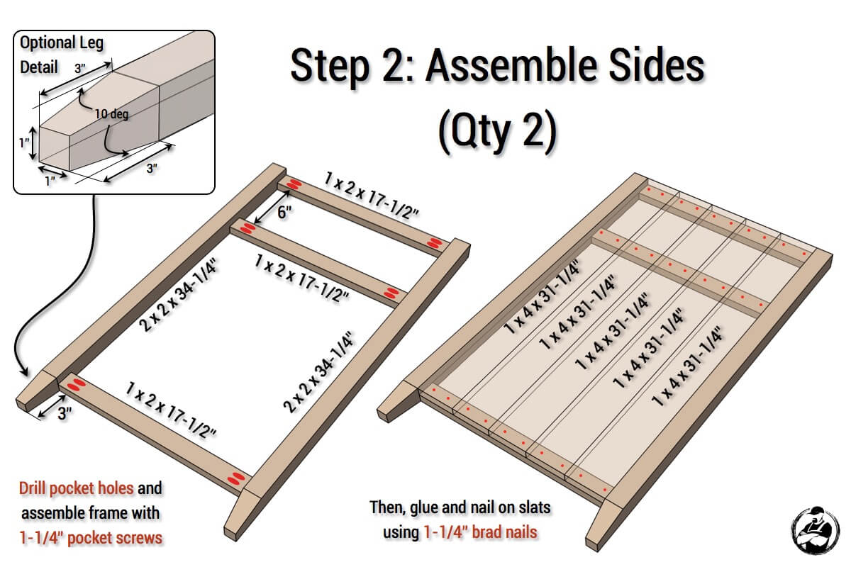 DIY Rustic Media Center Plans - Step 2