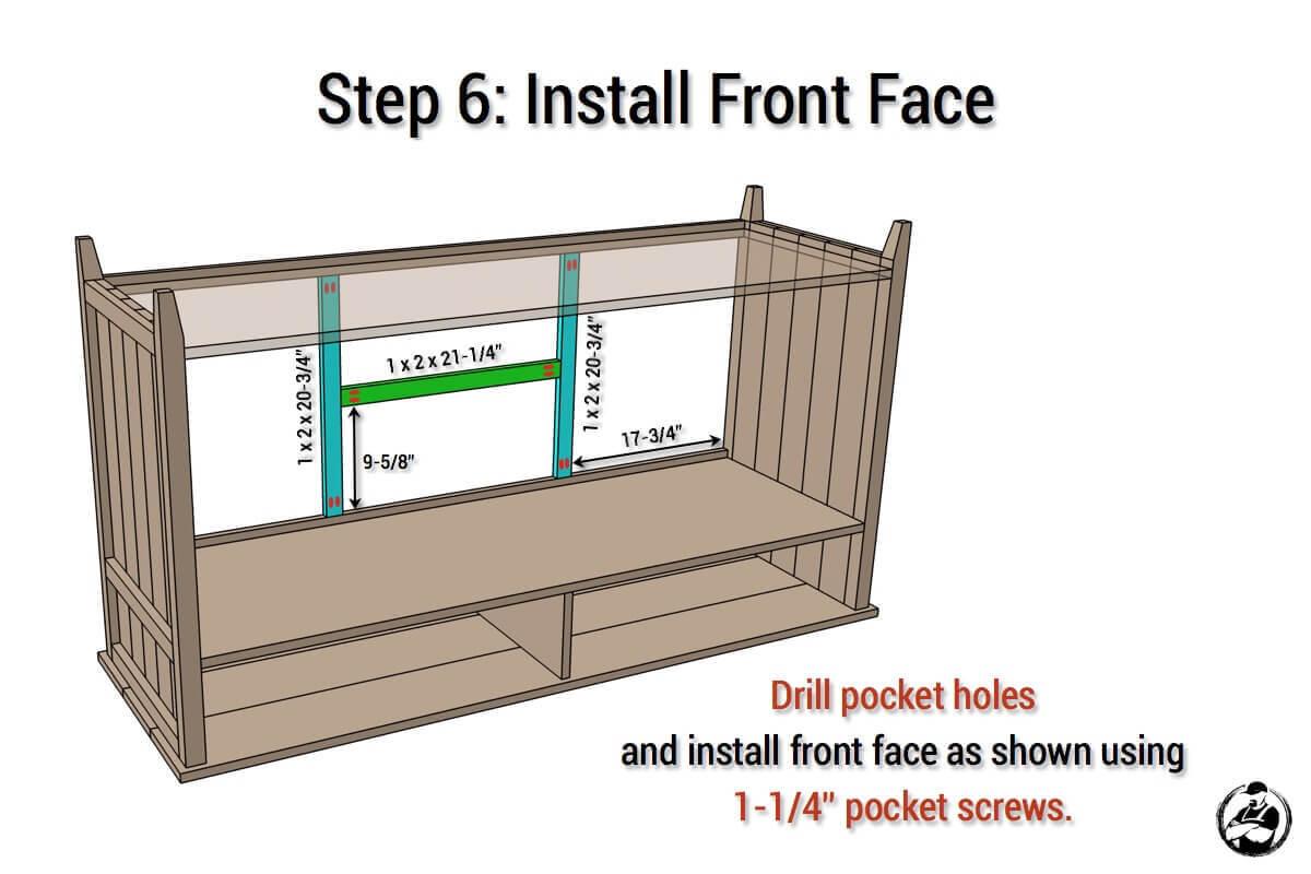 DIY Rustic Media Center Plans - Step 6