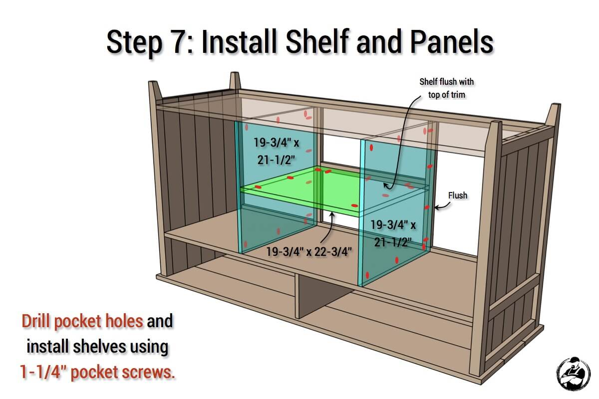 DIY Rustic Media Center Plans - Step 7