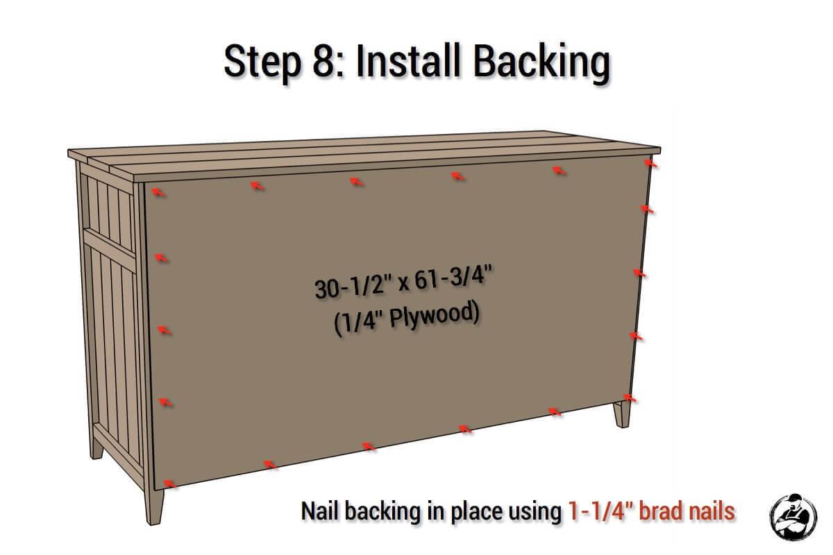 DIY Rustic Media Center Plans - Step 8