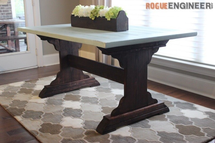 Monastery Dining Table { Free DIY Plans } Rogue Engineer