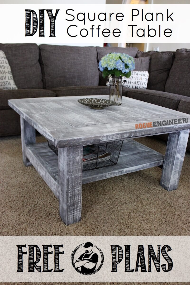 Square Plank Coffee Table Plans Rogue Engineer