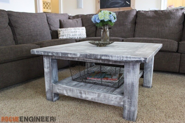 Coffee Table Plans.Square Coffee Table W Planked Top Free Diy Plans