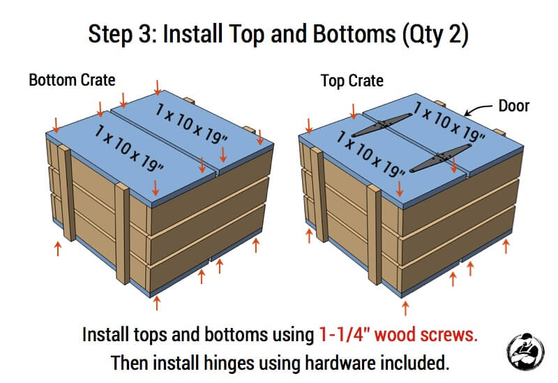 Stacked Crate End Table Plans - Step 3