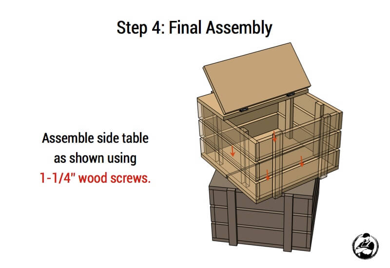 Stacked Crate End Table Plans - Step 4