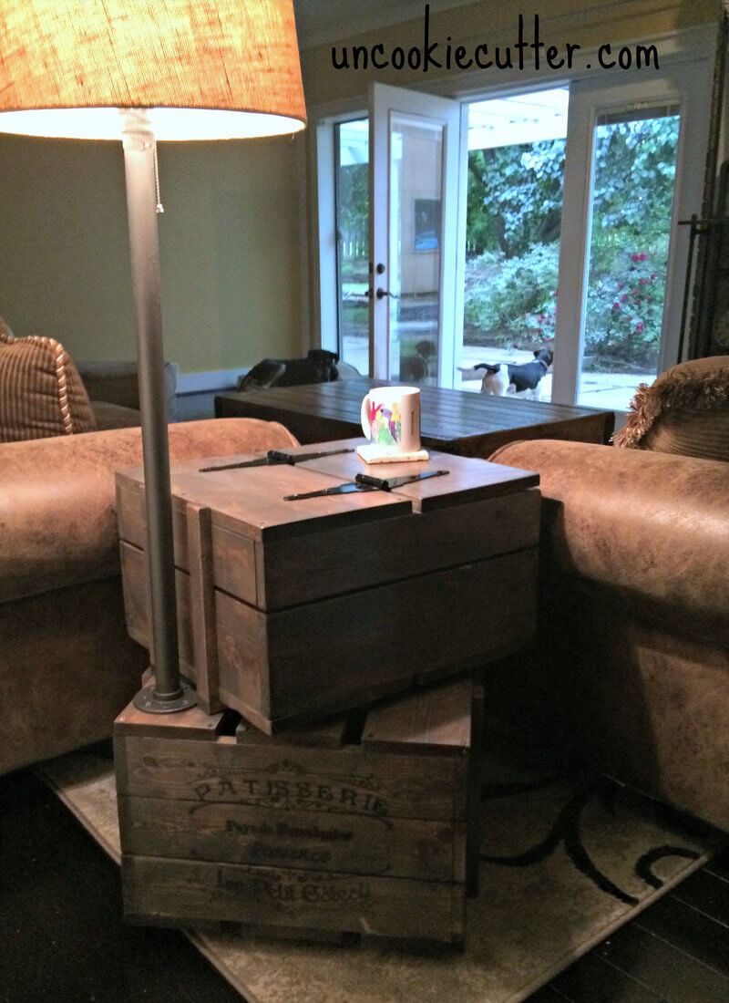DIY Crate End Table Plans - Rogue Engineer