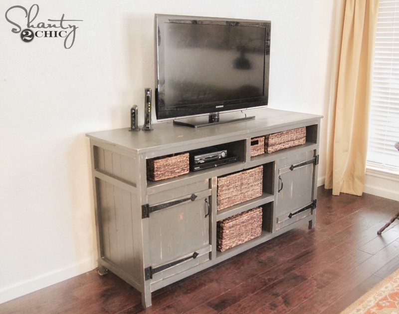 Rustic media center free diy plans rogue engineer diy media console shanty2chic solutioingenieria Gallery