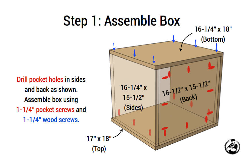 DIY Mid Centry Modern Side Table Plans - Step 1