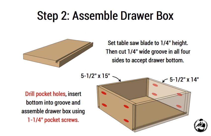 DIY Mid Centry Modern Side Table Plans - Step 2