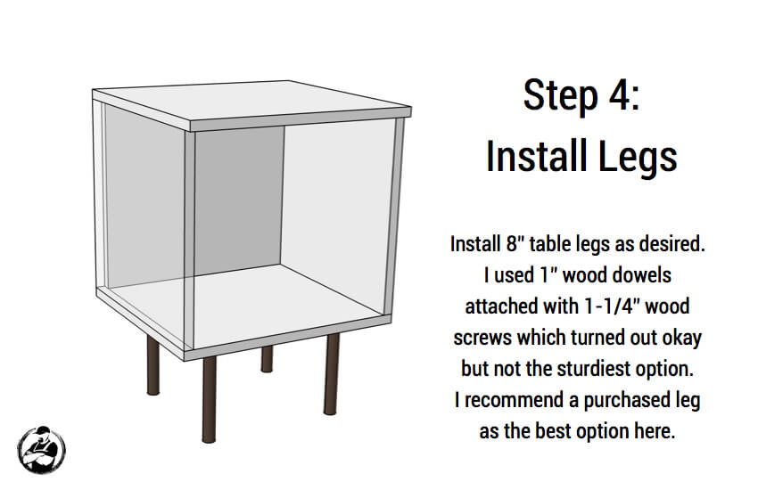 DIY Mid Centry Modern Side Table Plans - Step 4
