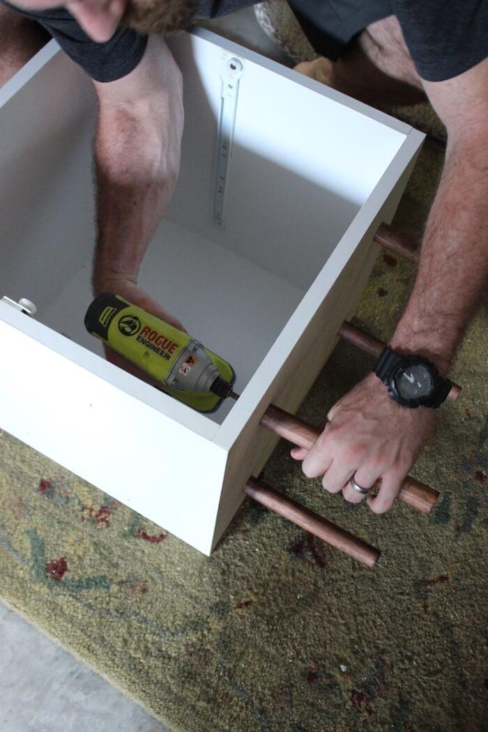 "Secure with 1-1/4"" wood screws"