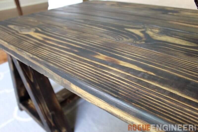 DIY Sawhorse Coffee Table Plans - Rogue Engineer