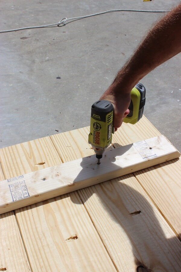 DIY Sawhorse Coffee Table Plans - Step 4