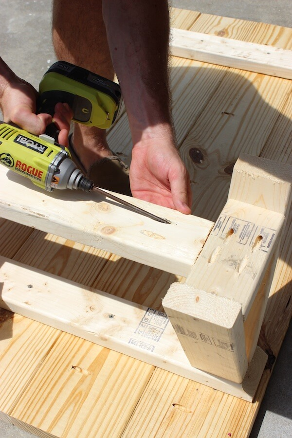 DIY Sawhorse Coffee Table Plans - Step 7