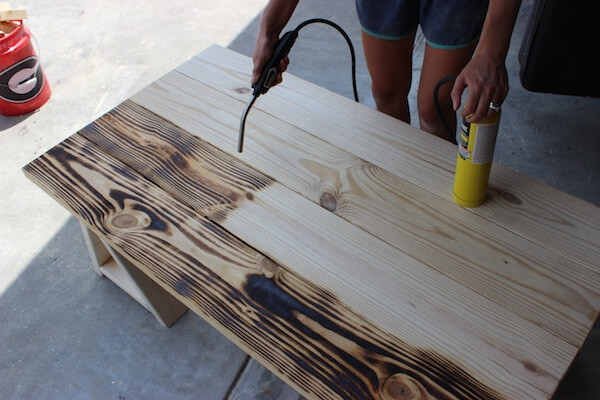 DIY Sawhorse Coffee Table Plans - Step 9