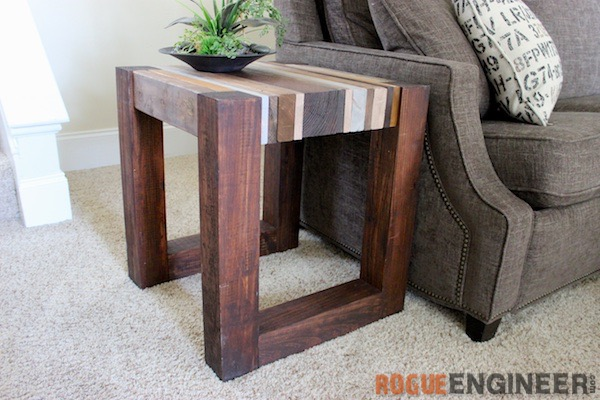 DIY Scrap Wood Side Table - Rogue Engineer