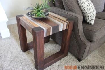 DIY Scrap Wood Side Table - Rogue Engineer