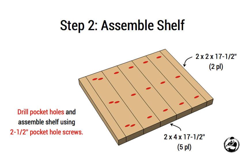 DIY Simple Square Bedside Table Plans - Step 2