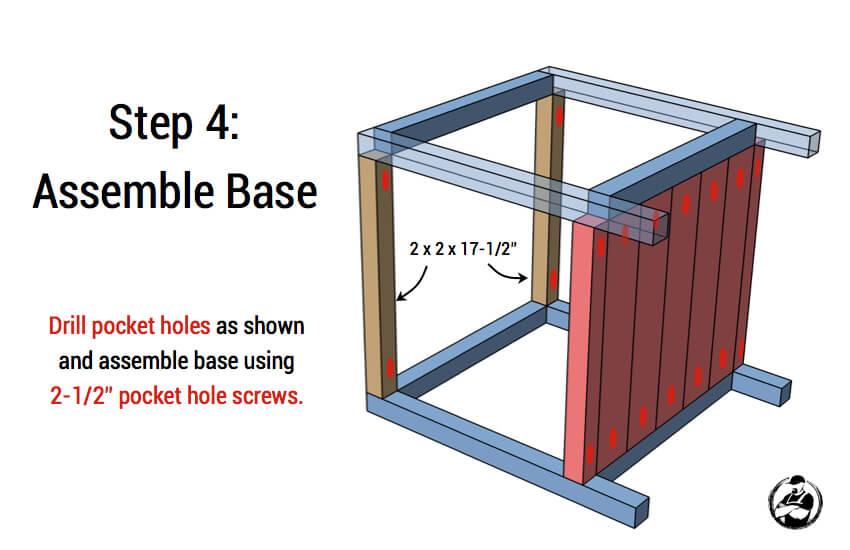 DIY Simple Square Bedside Table Plans - Step 4