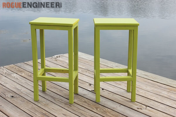 Easy DIY Stool Plans - Rogue Engineer & Easiest Bar Stools EVER!  Free DIY Plans  Rogue Engineer islam-shia.org