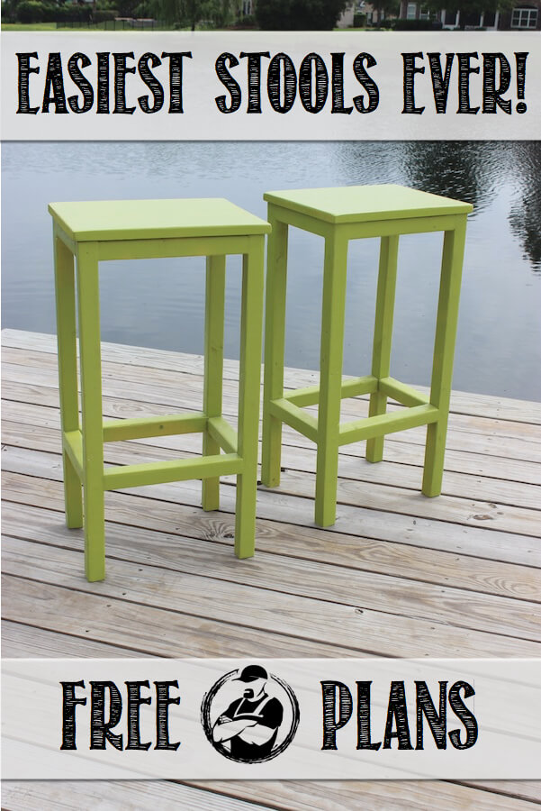 Admirable Easiest Bar Stools Ever Free Diy Plans Rogue Engineer Short Links Chair Design For Home Short Linksinfo