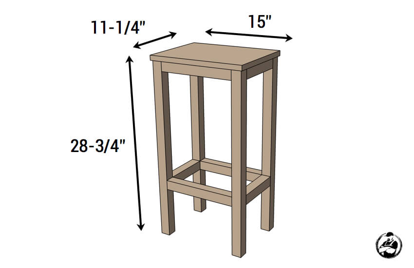 Easiest Bar Stools EVER Free DIY Plans Rogue Engineer : Simple DIY Stool Plans Dimensions from rogueengineer.com size 850 x 550 jpeg 23kB
