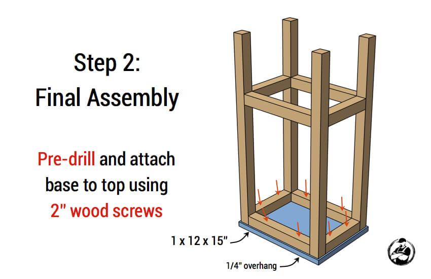 Simple DIY Stool Plans - Step 2