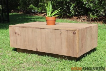 DIY Modern Floating Coffee Table - Free Plans - Rogue Engineer 1