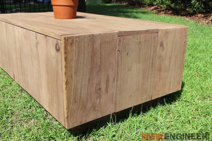 DIY Modern Floating Coffee Table - Free Plans - Rogue Engineer 3