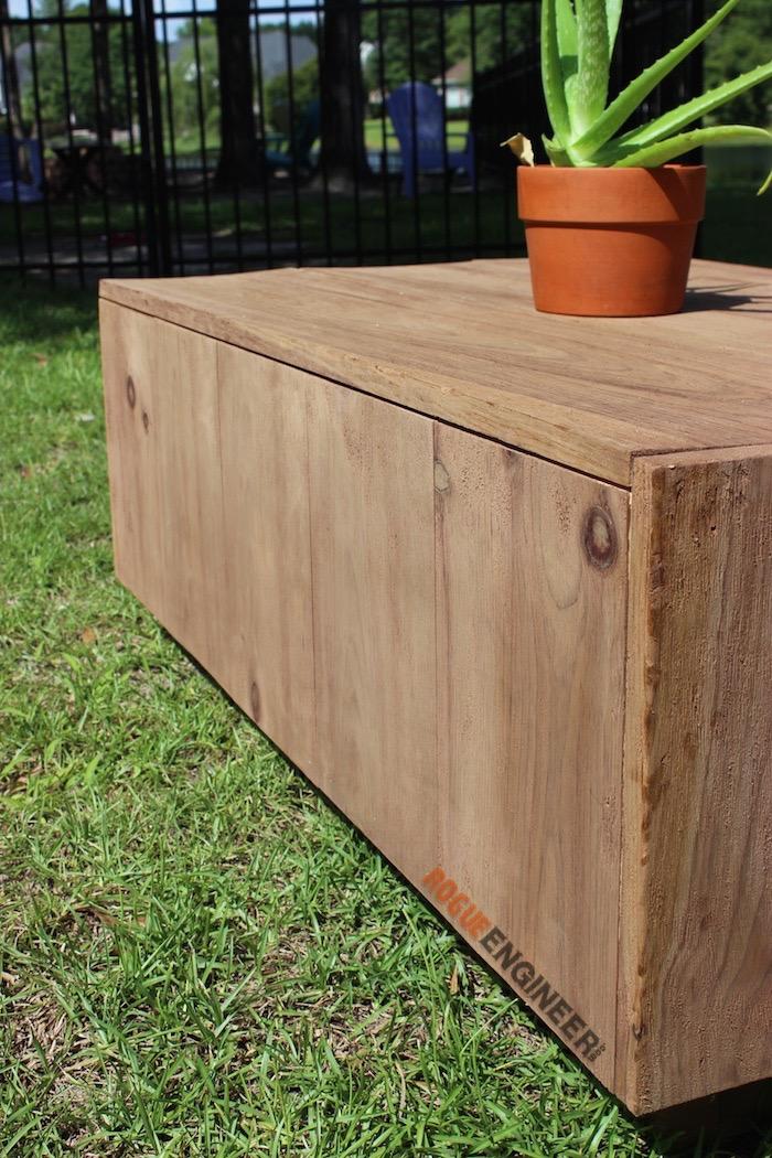 DIY Modern Floating Coffee Table - Free Plans - Rogue Engineer 3