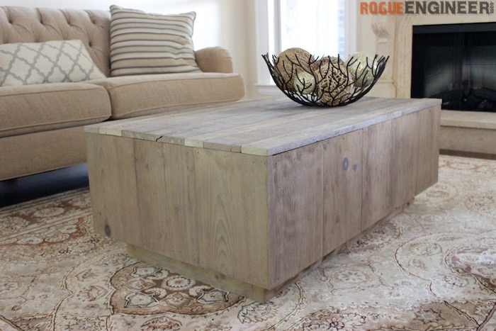 DIY Modern Floating Coffee Table - Rogue Engineer 1