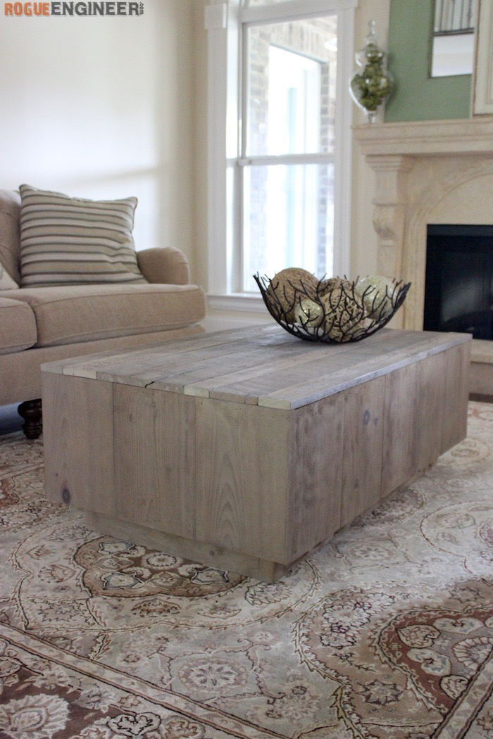 DIY Modern Floating Coffee Table - Rogue Engineer 4