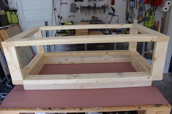 DIY Modern Floating Coffee Table - Step 10