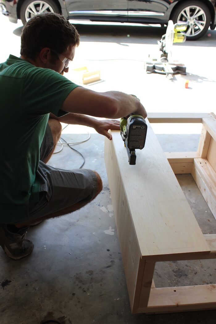 DIY Modern Floating Coffee Table - Step 13