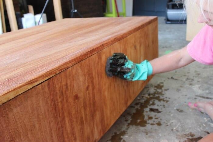 DIY Modern Floating Coffee Table - Step 17