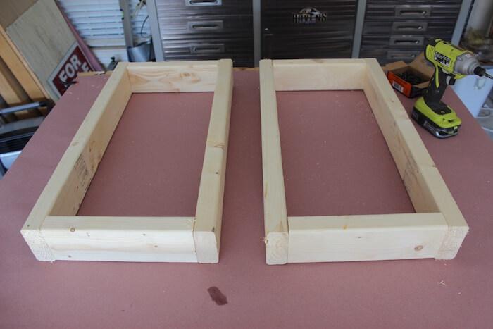 DIY Modern Floating Coffee Table - Step 2