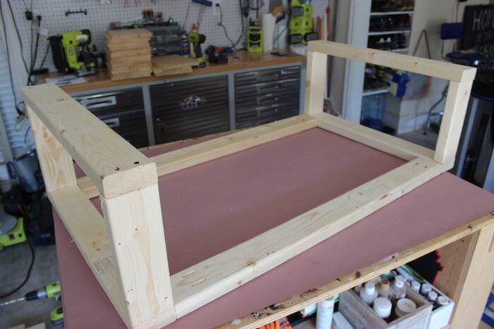 DIY Modern Floating Coffee Table - Step 7