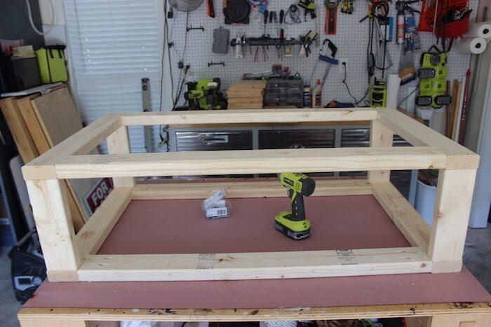 DIY Modern Floating Coffee Table - Step 8