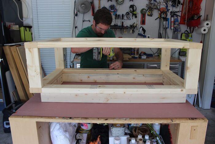 DIY Modern Floating Coffee Table - Step 9