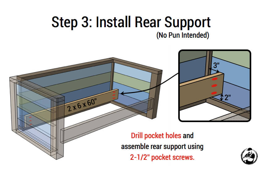DIY Planked Wood Loveseat Plans - Step 3