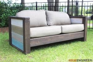 DIY Planked Wood Loveseat - Rogue Engineer