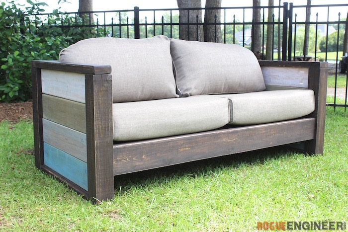 Bon DIY Planked Wood Loveseat   Rogue Engineer